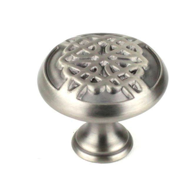 This Antique Pewter Hand Polished Finish Round Cabinet Knob With Celtic  Design Is A Part Of