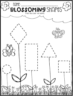 spring math and literacy printables and worksheets for pre k and kindergarten