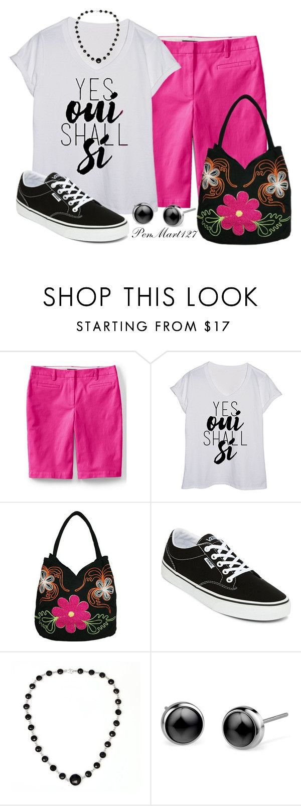 """""""Bermuda Shorts #Plussize"""" by penny-martin on Polyvore featuring Lands' End, Bamboo54, Vans and plus size clothing"""