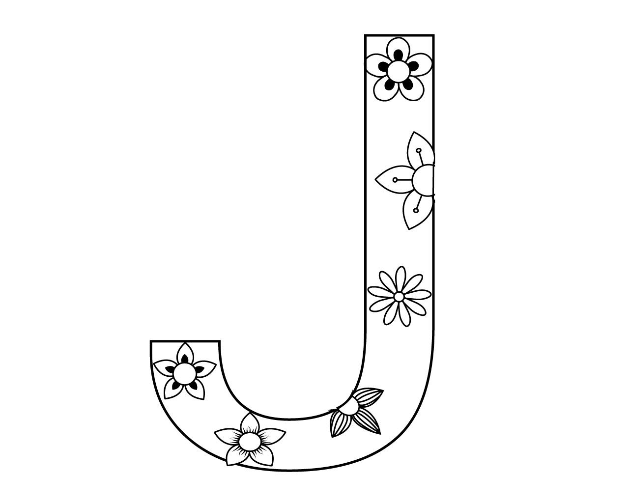 Free Printable Letter J Coloring Pages Printable Alphabet Letters Lettering Alphabet Coloring Pages