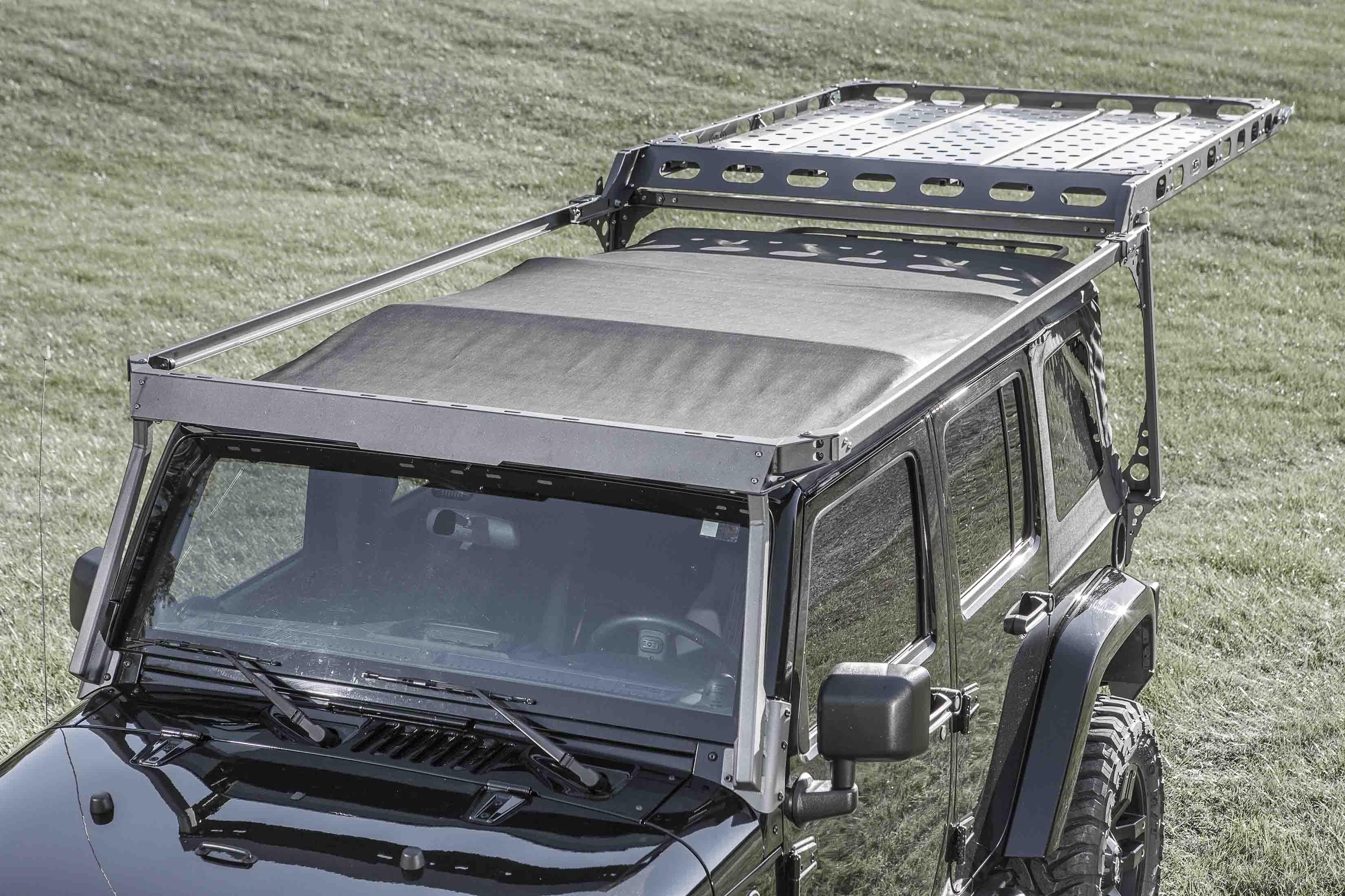 2007 2017 Jeep Jk 4 Door Sliding Roof Rack Roof Rack Metal Roof
