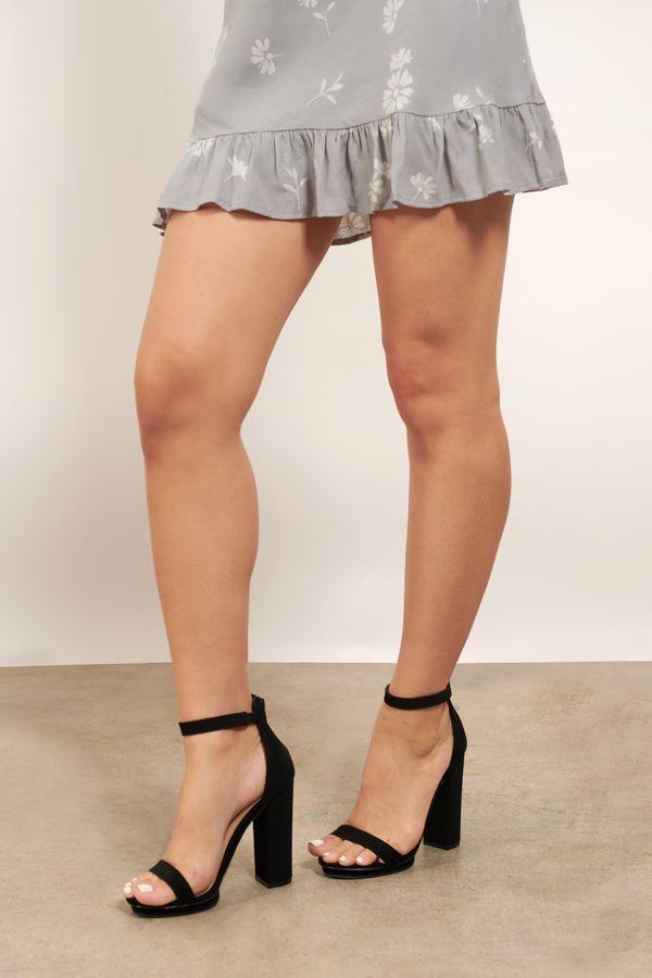 Baker Zigi Jayde Nude Suede Rhinestone T Strap High Heel