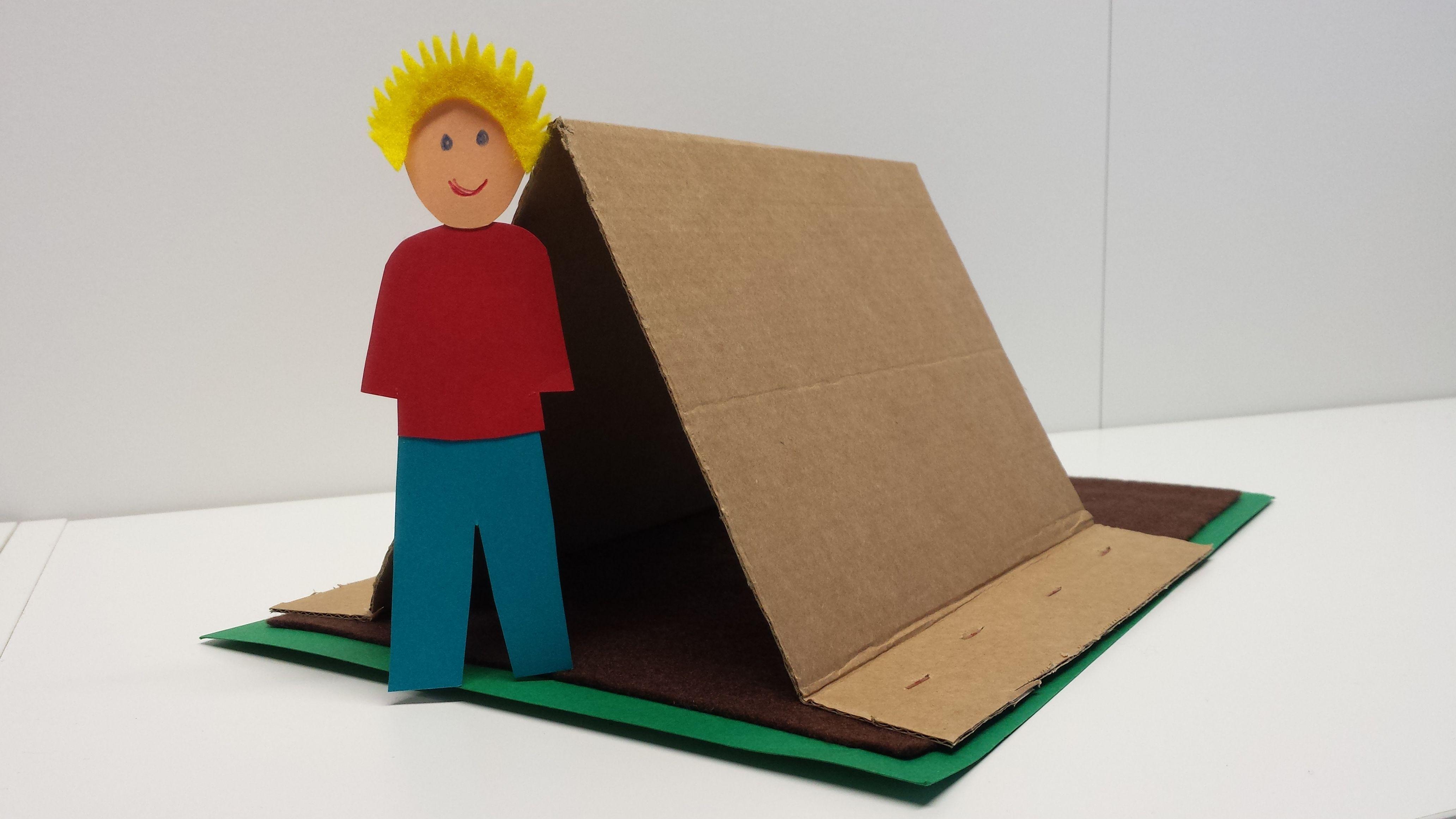 Emmin teltta. askartelu | kädentaidot | paperi | lasten | lapset | helppo | askarrellaan | kids | children | easy | crafts | Pikku Kakkonen