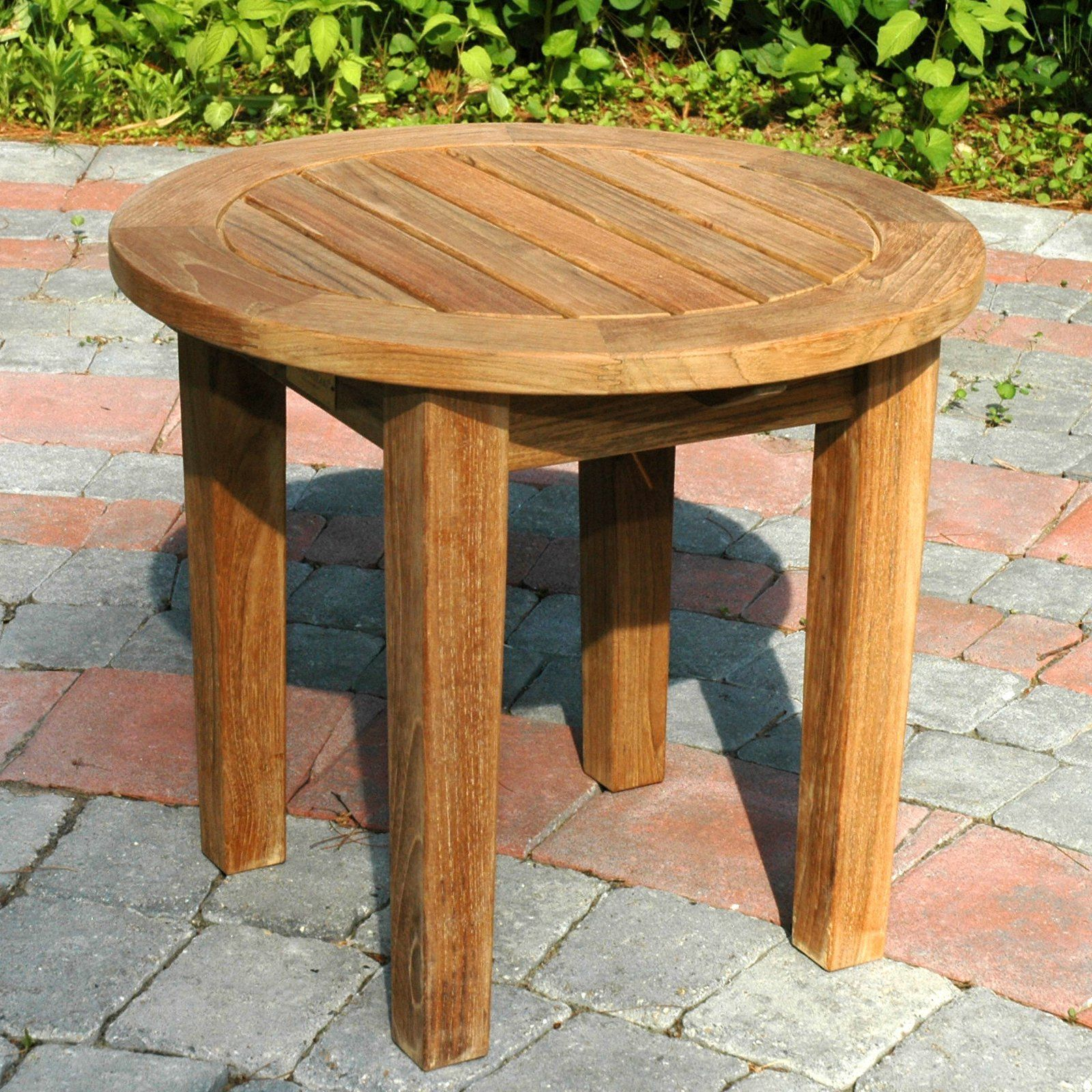 Regal Teak Round Side Table Fixed Leg - The Regal Teak Round Side Table Fixed Leg makes a lovely addition to your outdoor furniture set. Made from grade-A solid teak, this piece won't just...