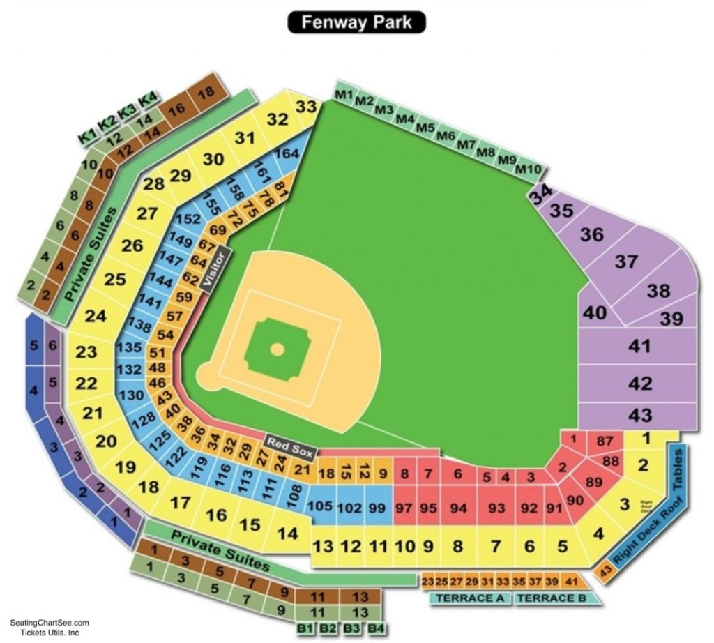 Fenway Park Seating Chart With Rows