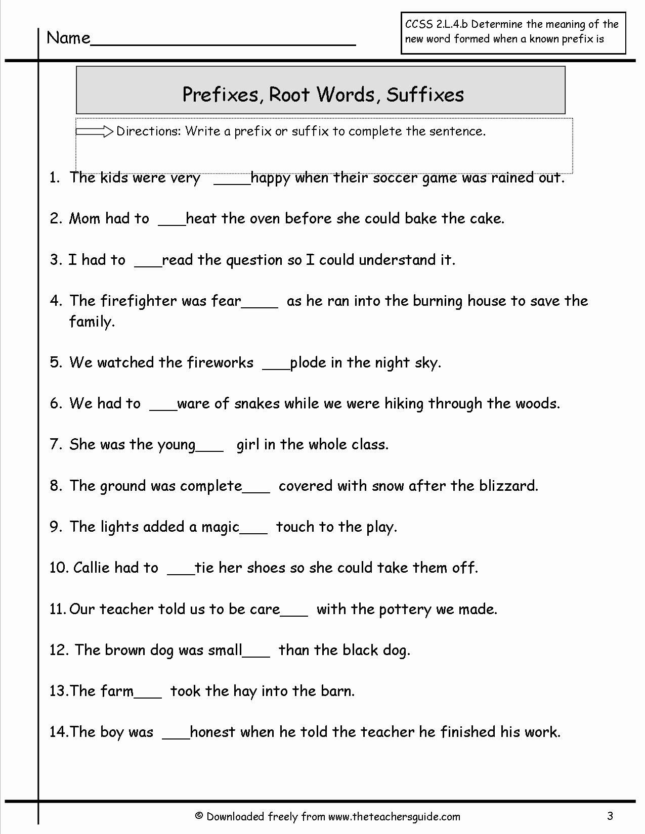 Prefixes And Suffixes Worksheet Luxury Wonders Second