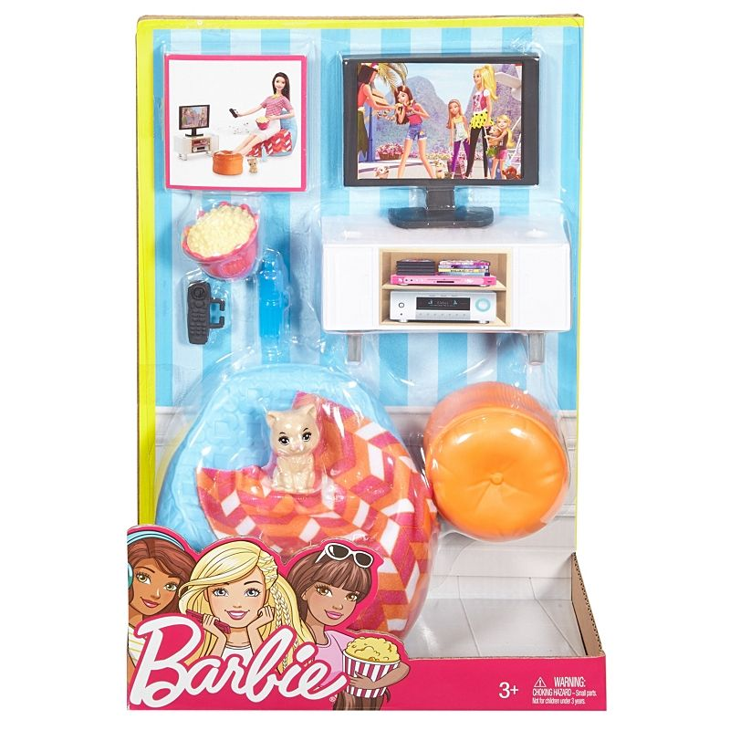 Barbie Accessory Sets Mattel 3 boxes Puppy Brunette Baby Breakfast