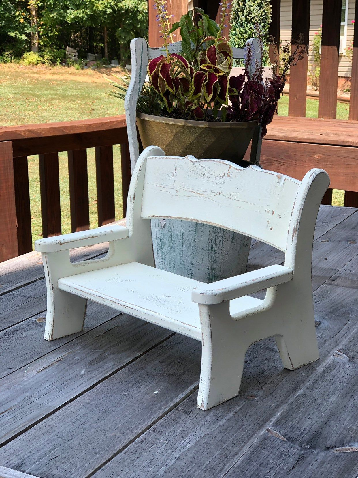 Customized Little Girls Bench 30 Shipping Childrens Furniture Wood Crafts Handcraft