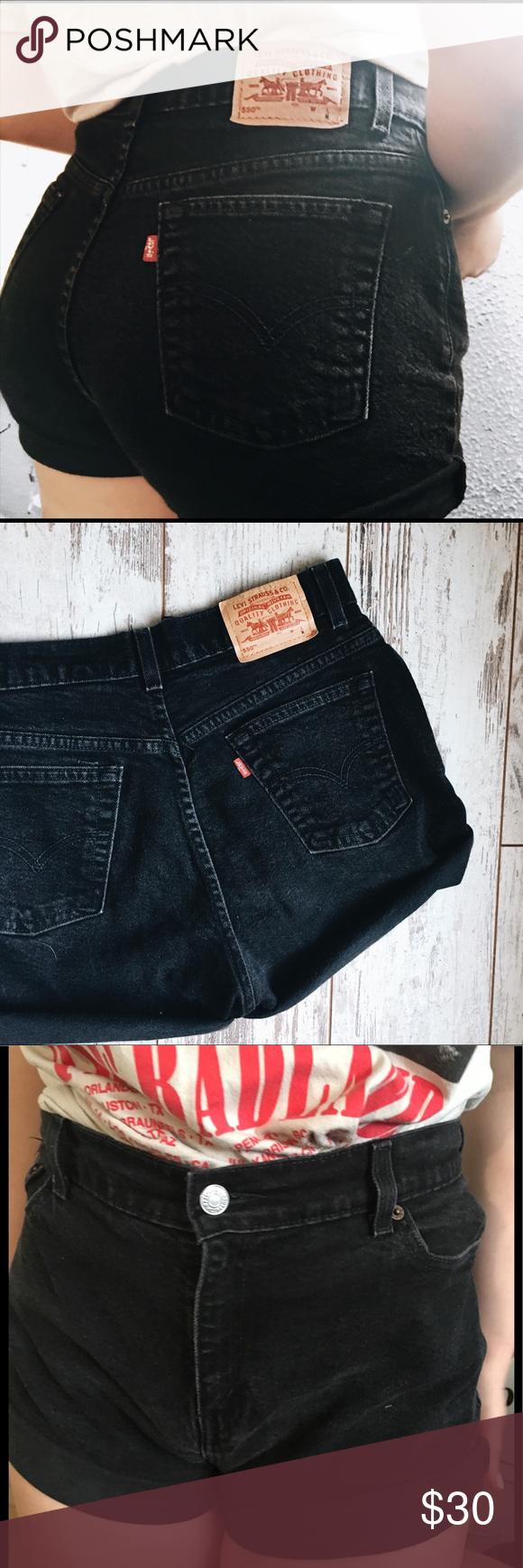 d270ad9f 🌹SALE ENDS TONIGHT LEVI BLACK HIGH WAISTED SHORTS Size 12 pet women's  Levi's Shorts Jean Shorts