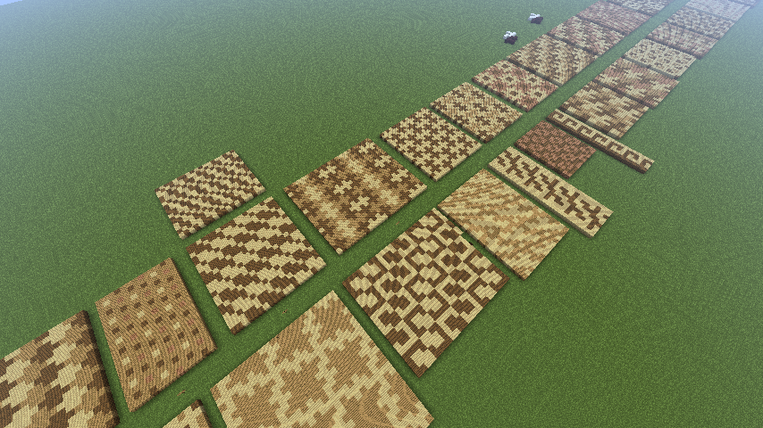 Interesting patterns to decorate floors ceilings roads for Minecraft floor designs