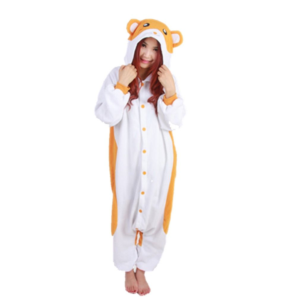 Hamster Kigurumis Pajamas Anime Cosplay Costume Unisex Adult Onesie Sleepwear >>> Find out more about the great product at the image link.