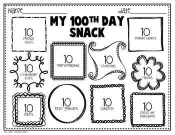 Image result for 100 day snack cherubs pinterest school and math image result for 100 day snack maxwellsz