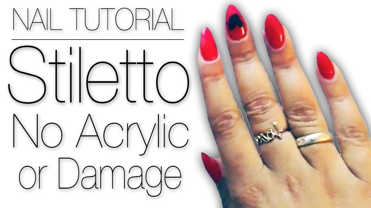 Outstanding Stiletto Gel Nails Tutorial Photos - Nail Polish Ideas ...