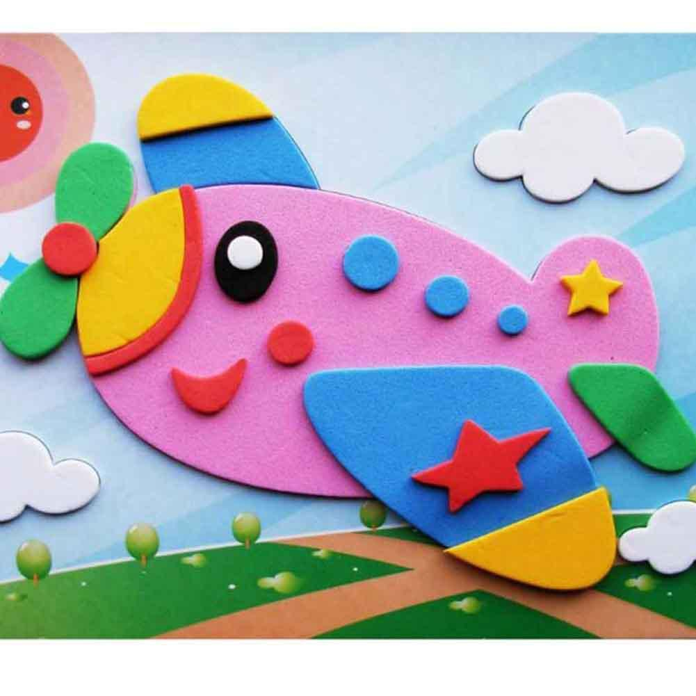 3d Children Puzzle Diy Foam Mosaic Stickers Art Eva Cartoon