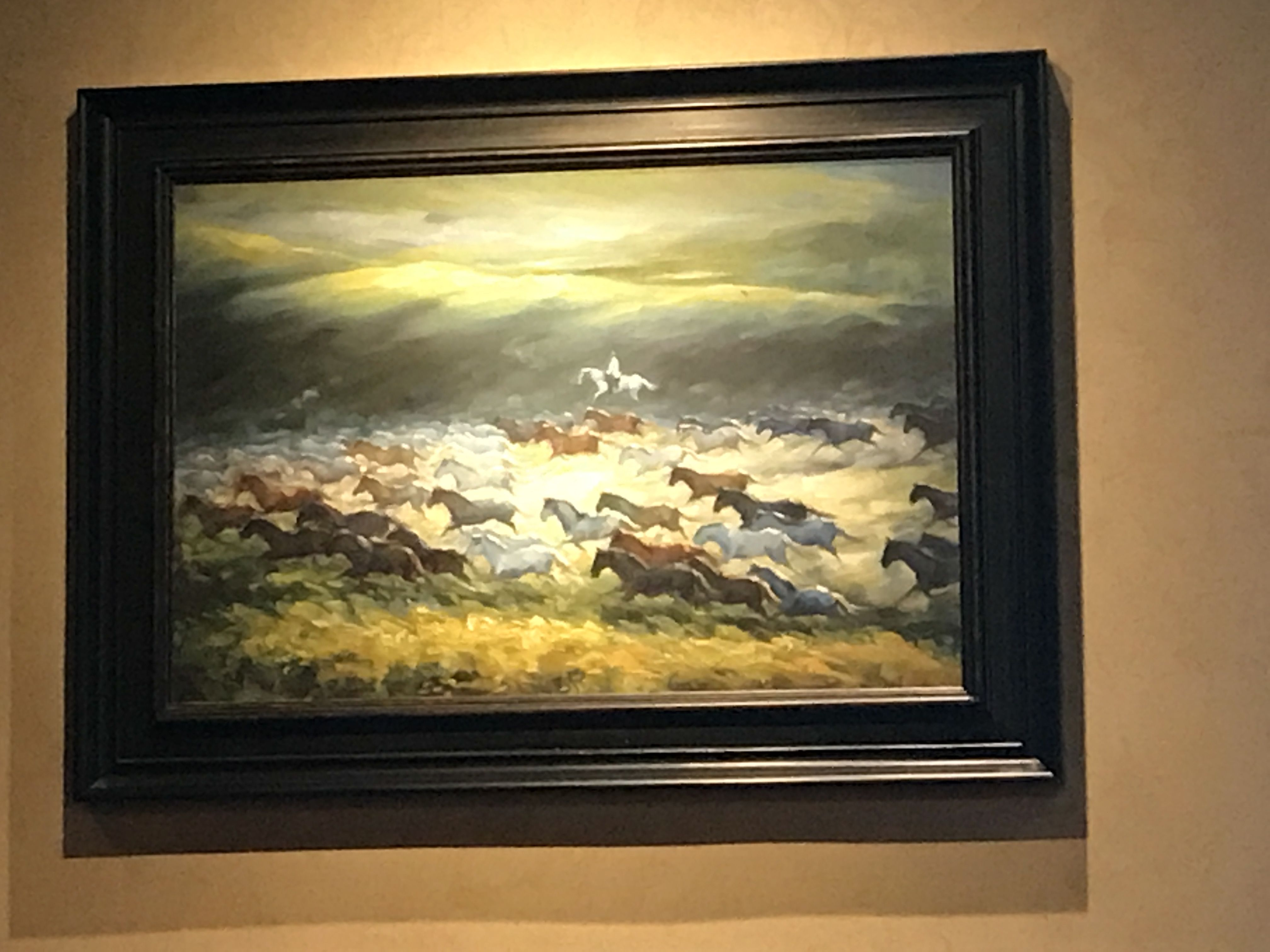 Having dinner at Longhorn Steakhouse and saw this painting. Does ...