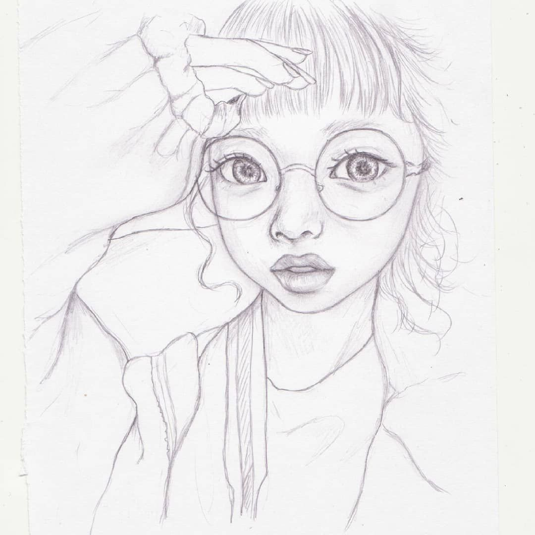 Sketch of hikapudayo i love her pink aesthetics 🌸🌸 sketch referenceused pencildrawing pencilart artist drawing realism