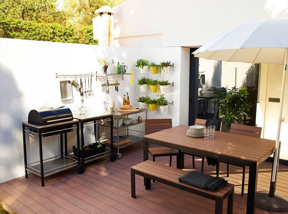 Barbacoa terraza mesa dormitorios de los ni os - Como decorar una terraza grande ...