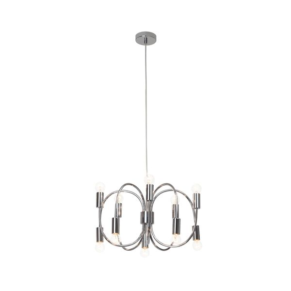 MUSETTA, suspension, lustre, chandelier, chrome, 10 lumières, 10 ...