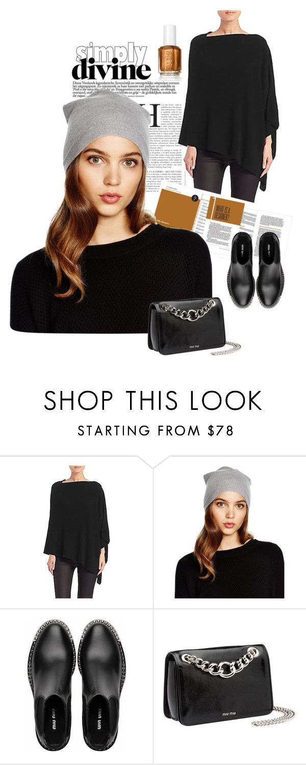 """Black On Black"" by belldraw ❤ liked on Polyvore featuring Eileen Fisher and Miu Miu"