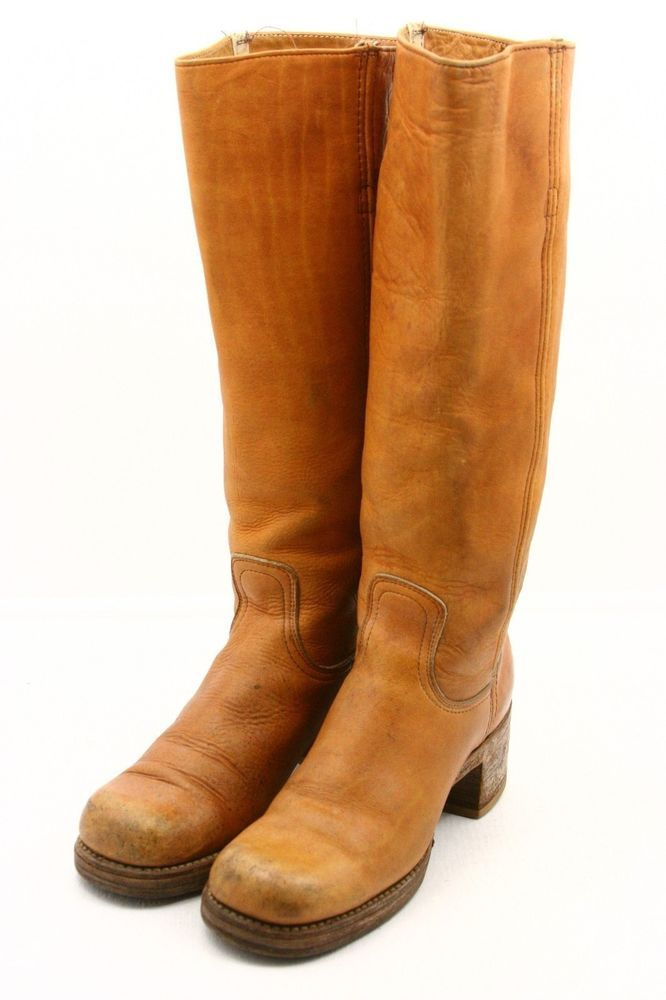 Frye schwarz Label Damenschuhe Campus Größe Cowboy Stiefel Größe Campus 6.5 Leder TRUE 592bf5