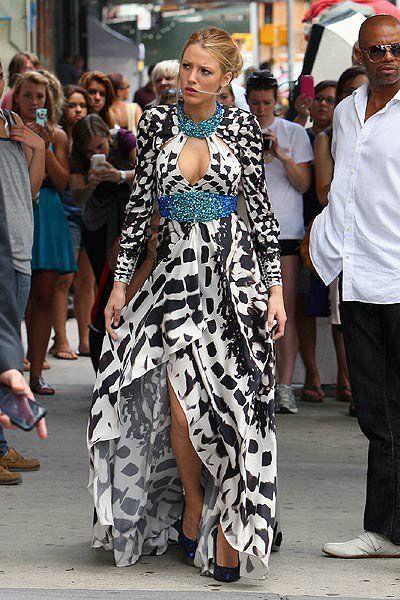 blake lively, dress, fashion, gossip girl, serena van der woodsen ...