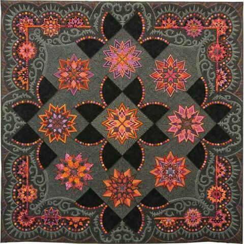 Aurifil - fb Congratulations to the winners of American Quilter's Society Quilt Week Lancaster!   Best of Show Award  #242 STARS ON MARS,  Gail Stepanek and Jan Hutchison,   New Lenox, Illinois