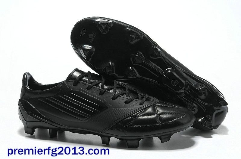 d00121c2f Adidas AdiZero F50 miCoach TRX FG All Black Cleats For UEFA CHAMPIONS LEAGUE