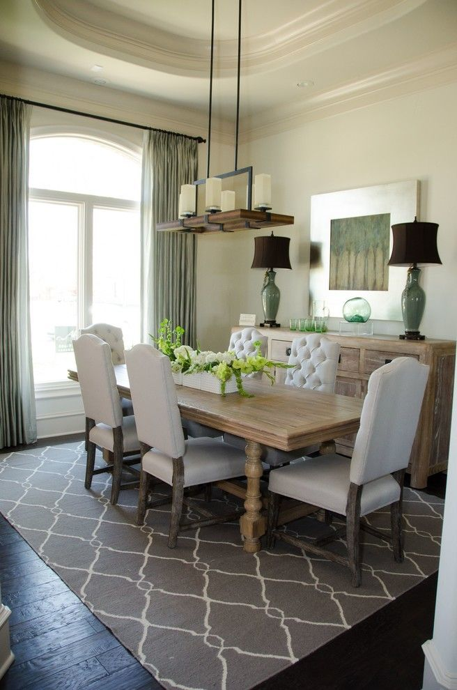Room Overstuffed Chair Dining Transitional With Curtains Custom Drapes Drapery Extra Long