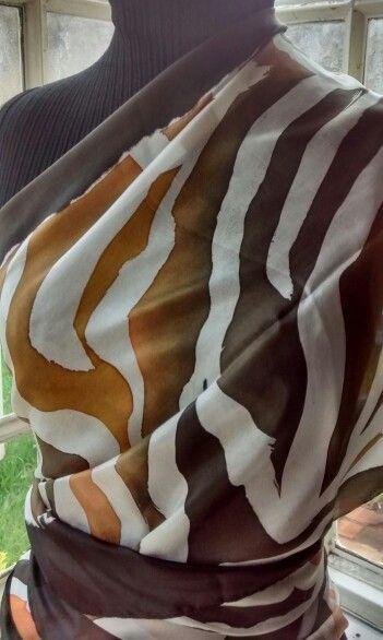 Echarpe em seda pura