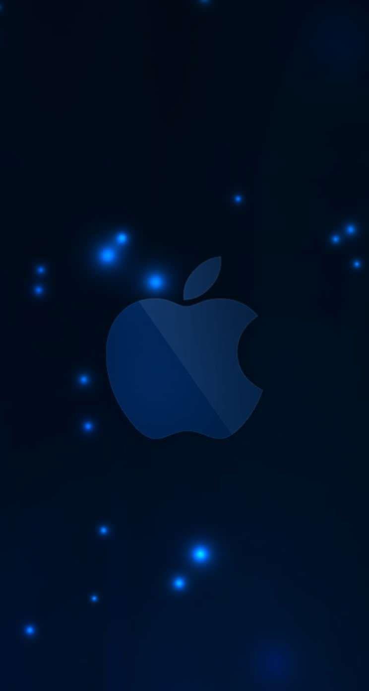 Appleロゴ青 Iphone5s壁紙 Apple Wallpaper Apple Logo Wallpaper