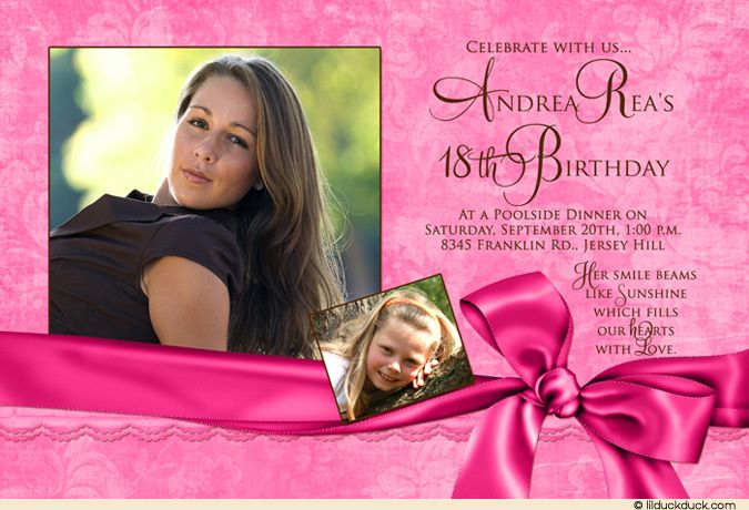 Th Birthday Invitation Maker And How To Make Your Own Invitation - 18th birthday invitations wording ideas
