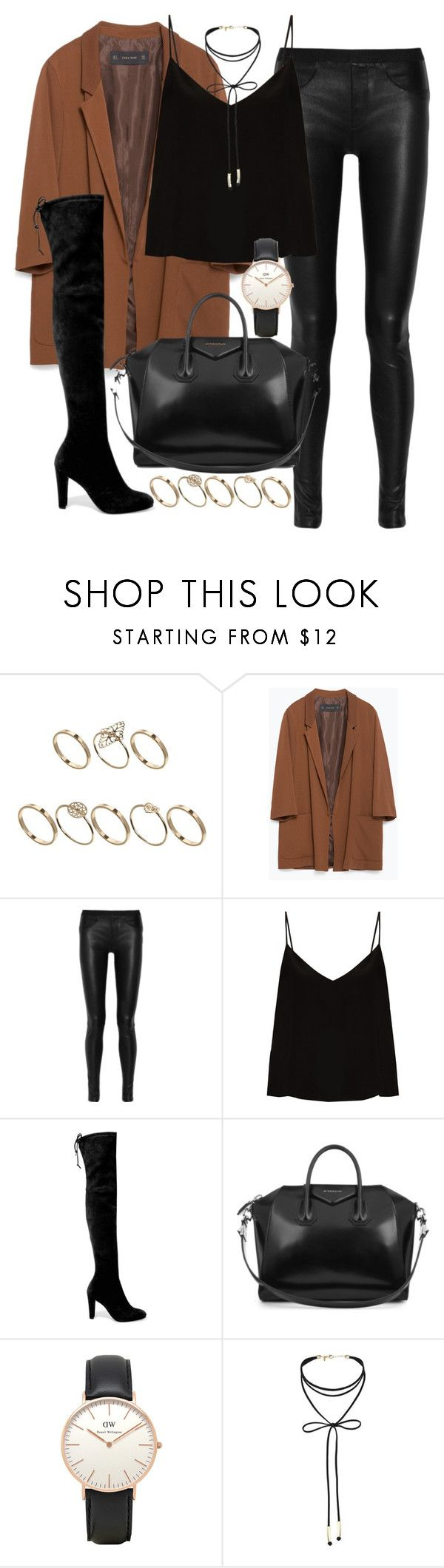 """""""Untitled #281"""" by dressyourbestie ❤ liked on Polyvore featuring ASOS, Zara, Helmut Lang, Raey, Stuart Weitzman, Givenchy, Topshop and Miss Selfridge"""