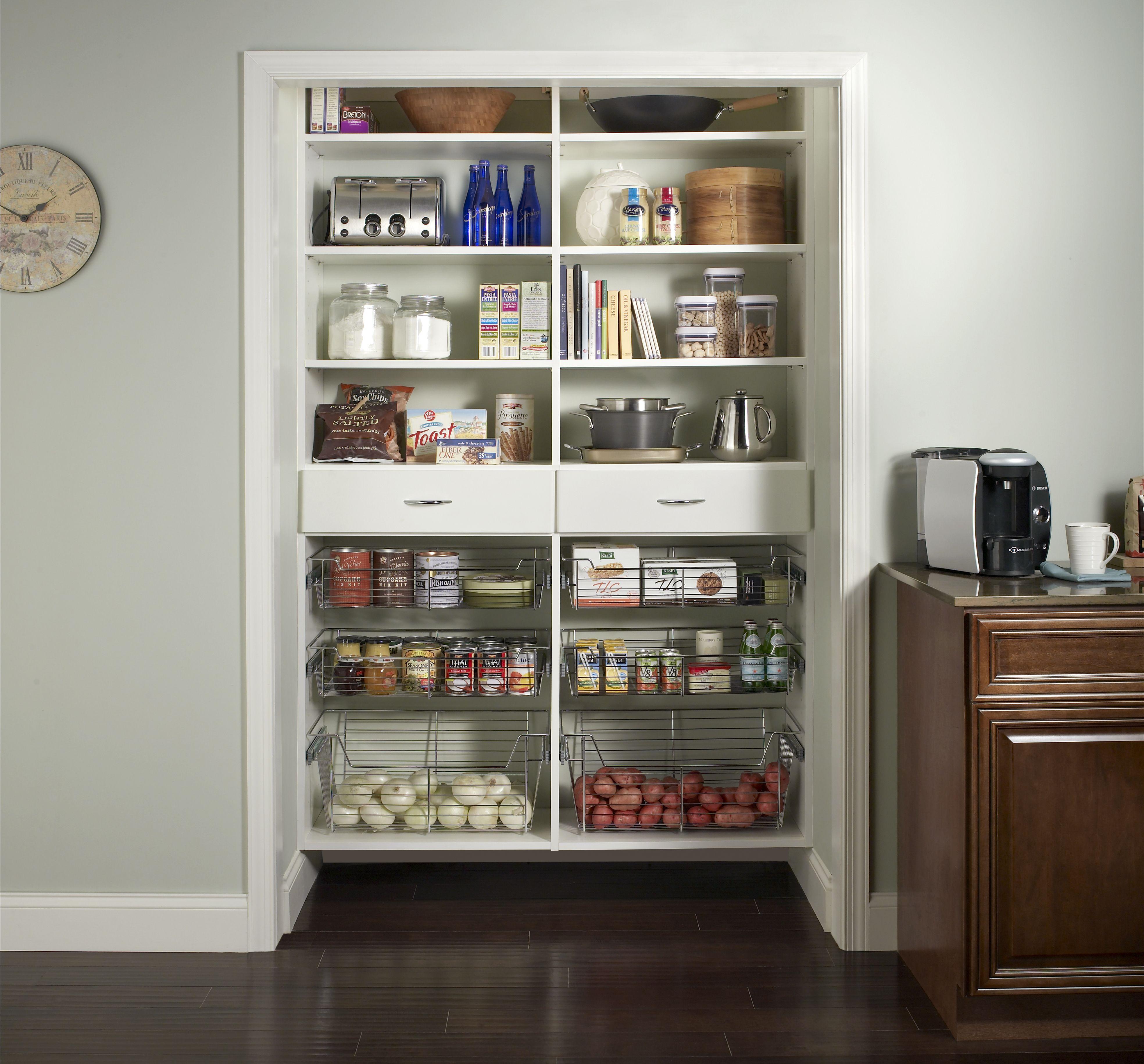 Kitchen Cabinets Wilmington Nc: White Pantry Contoured Edge