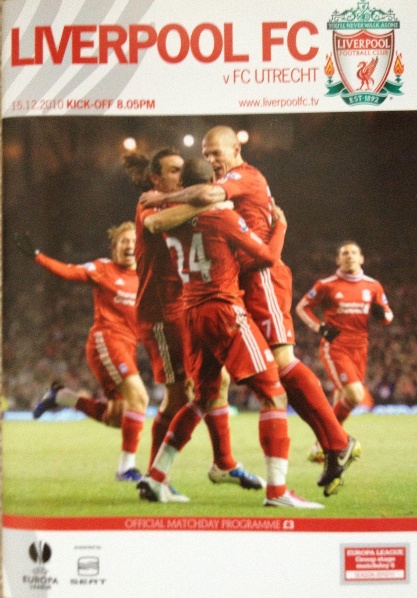 15/12/2010 Liverpool v FC Utrecht