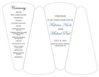 Fan Blade Wedding Program Template Easiest One To Follow Results