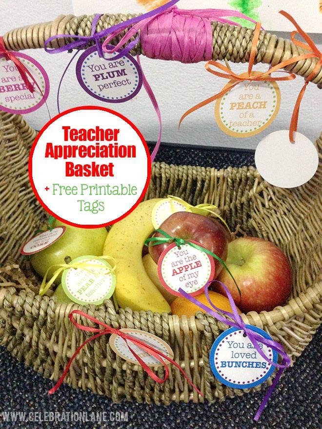 Teacher Appreciation Day Fruit Basket + Free Printable