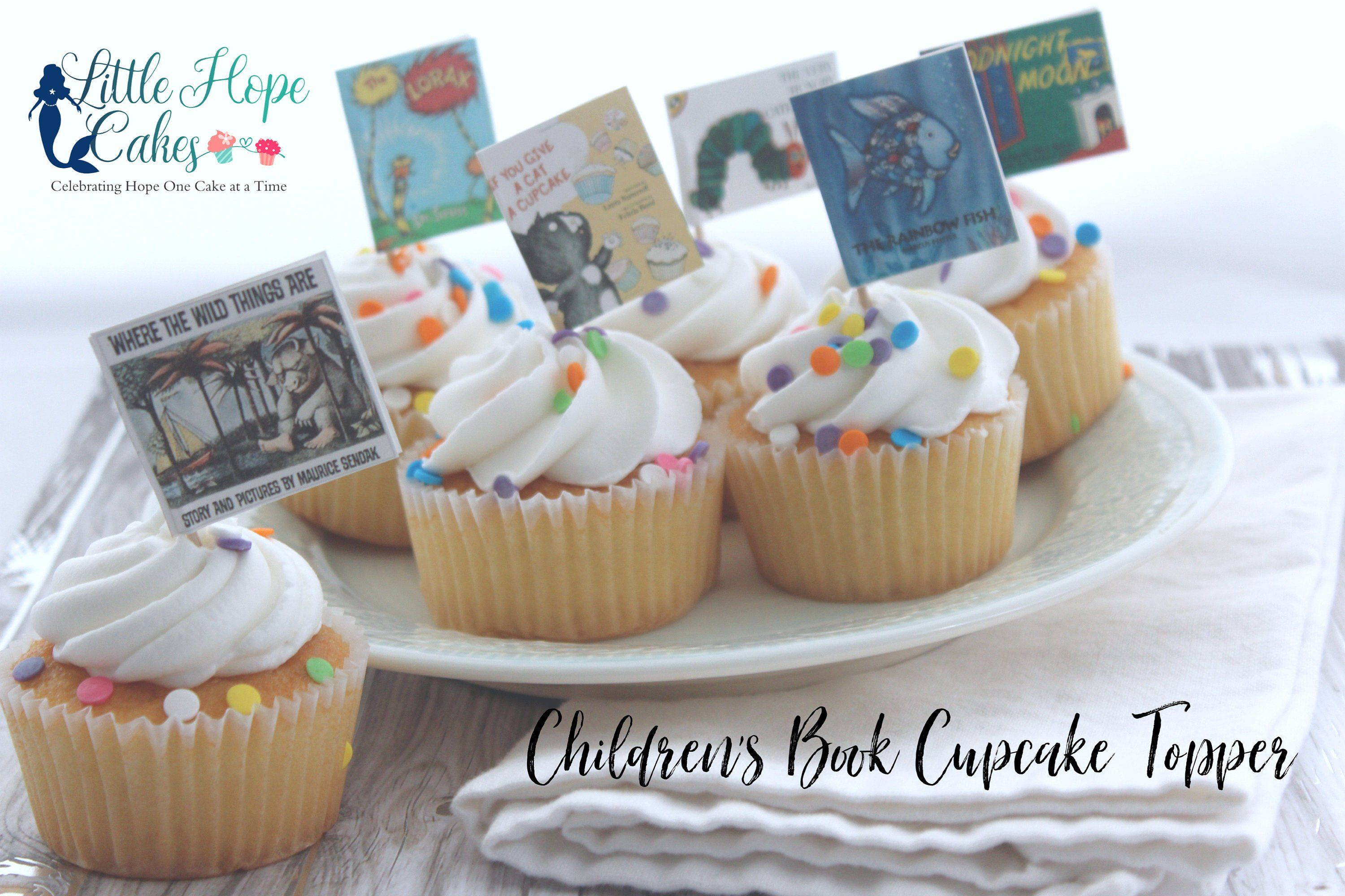 Children S Book Toppers Book Cupcake Toppers Book Theme Baby Shower Book Themed Baby Shower Decor Bo Book Cupcakes Baby Shower Book Childrens Books Baby Shower