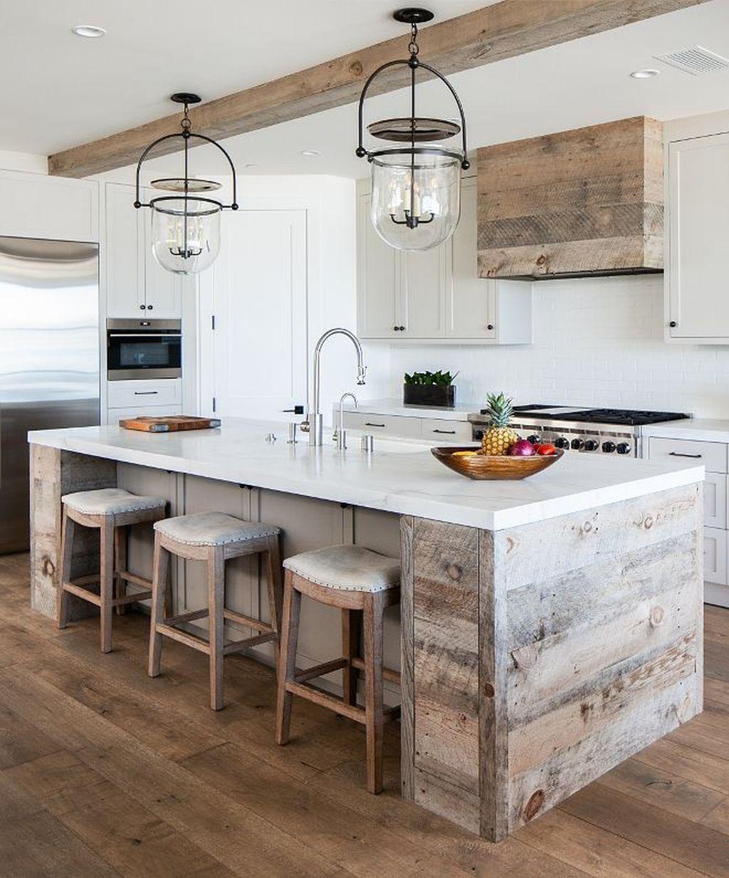29 beautiful beach style kitchen ideas for your beach house or villa wood kitchen island on kitchen ideas with island id=77223