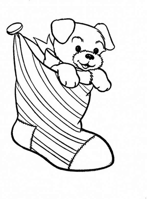 Stocking Coloring Page Printable | stocking coloring page printable ...