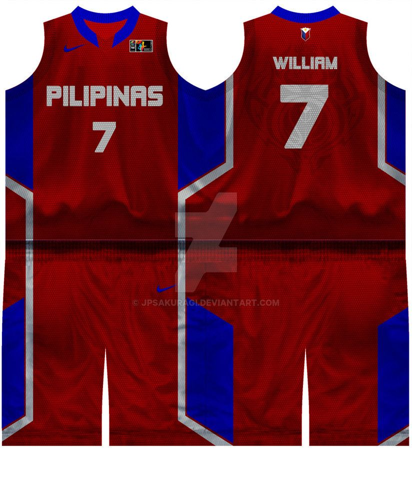 4e885ab9f59 Gilas Pilipinas - Red Away Jersey by jpsakuragi.deviantart.com on  @DeviantArt