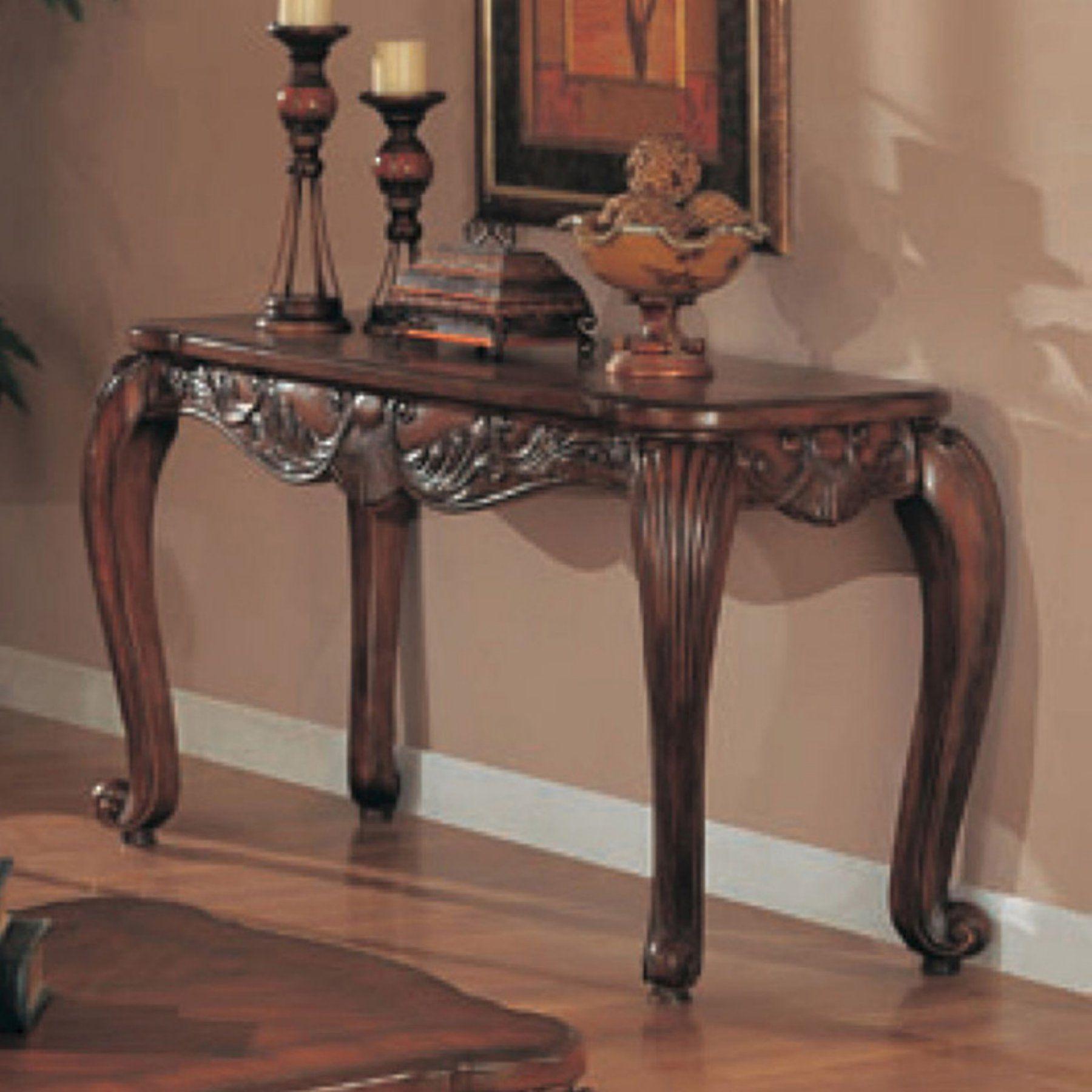 Coaster furniture dark brown sofa table 700469