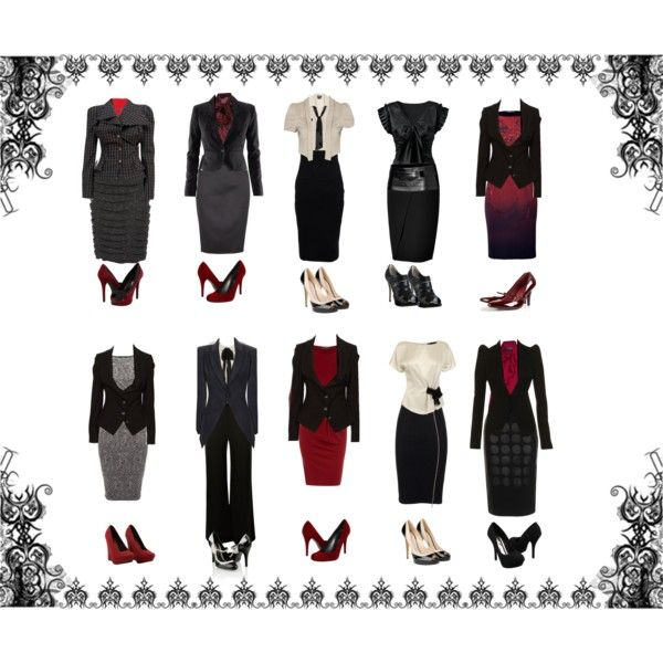 """Dream Noir Rouge"" by ms-lj on Polyvore"