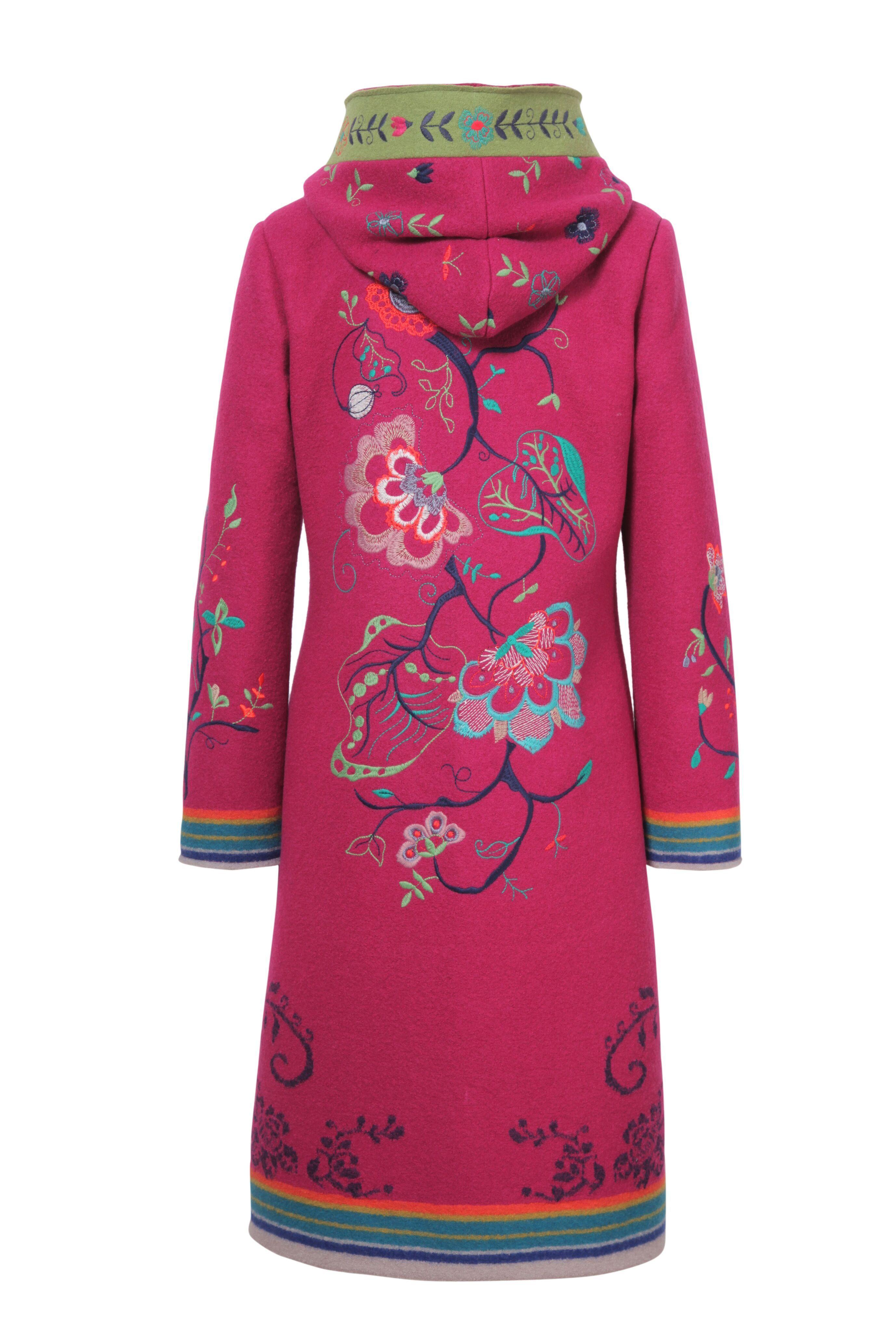 8b6796b8fa0 IVKO Boiled Wool Coat with Embroidery