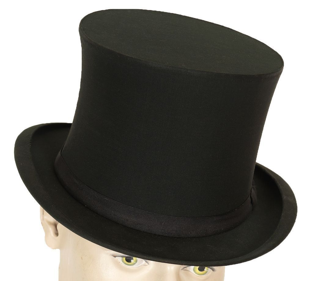 9658f9fe Top Hat Gibus Hat Silk Collapsible Opera Hat Chapeau Claque M 7 1/8 ...