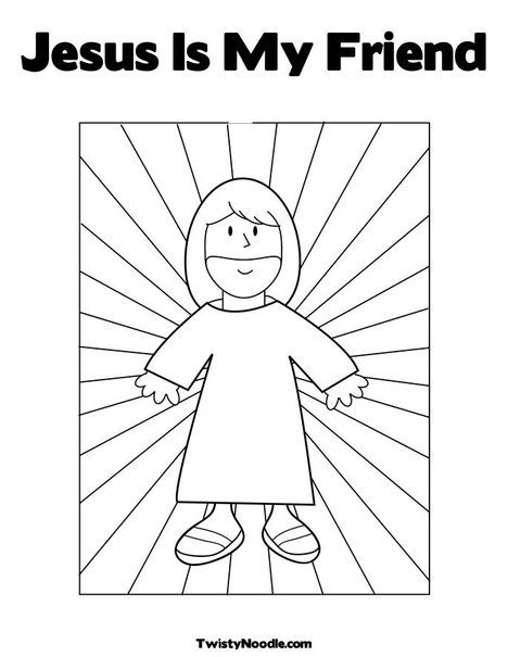 Jesus Is My Friend Coloring Page from TwistyNoodle.com | Bible ...