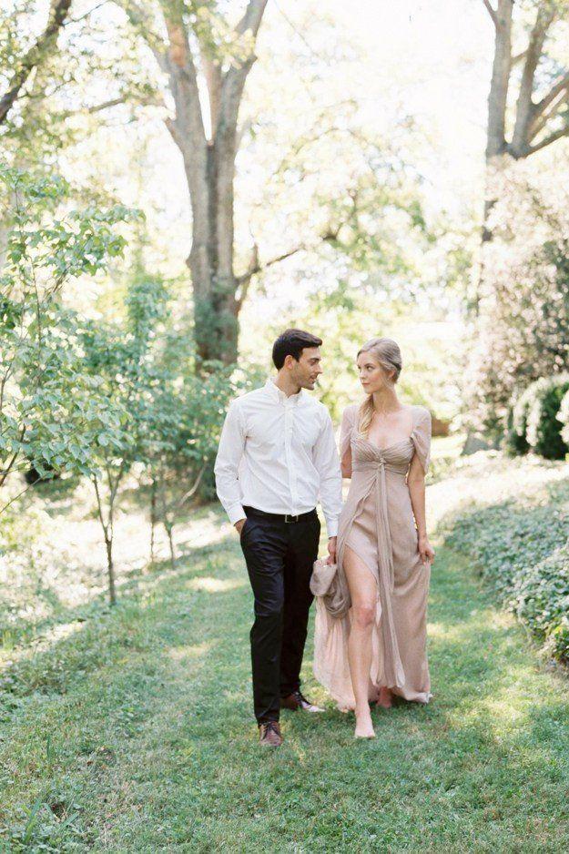 RENTAL Silk Mauve Split Gown XS/S San diego wedding
