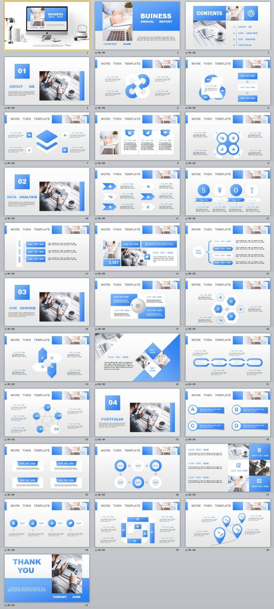 31+ best blue lowpoly business powerpoint template | microsoft, Modern powerpoint