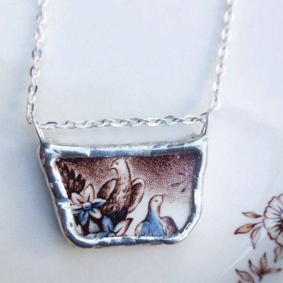 China Birds Necklace by asthecrowfliesandco on Etsy
