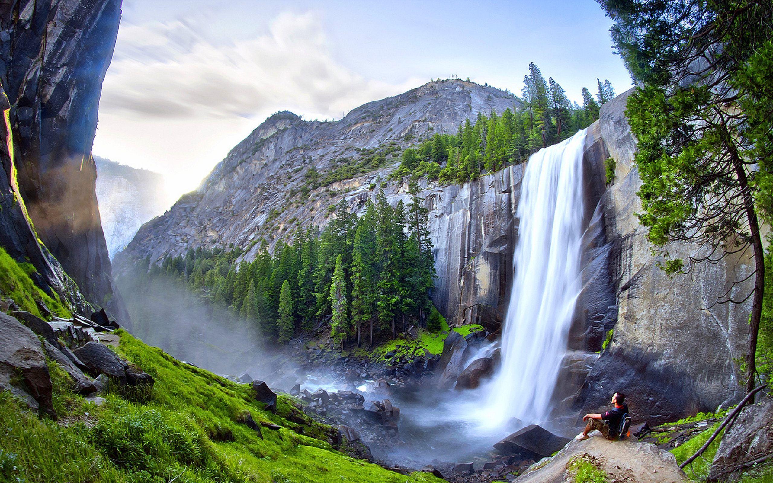 Yosemite California Beautiful Waterfalls Wallpaper Free