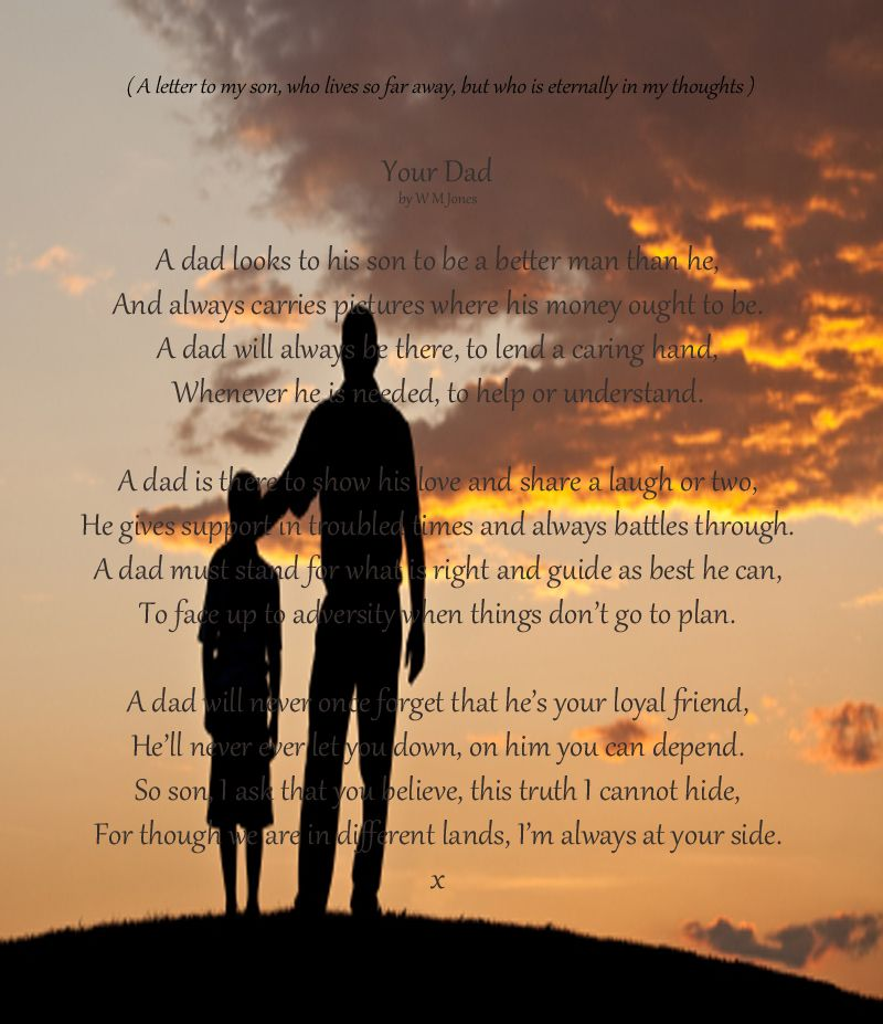 Your Dad . . A letter to my son . w. | For the love of
